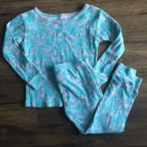 🌈3 for $13/ 3T floral carters pjs